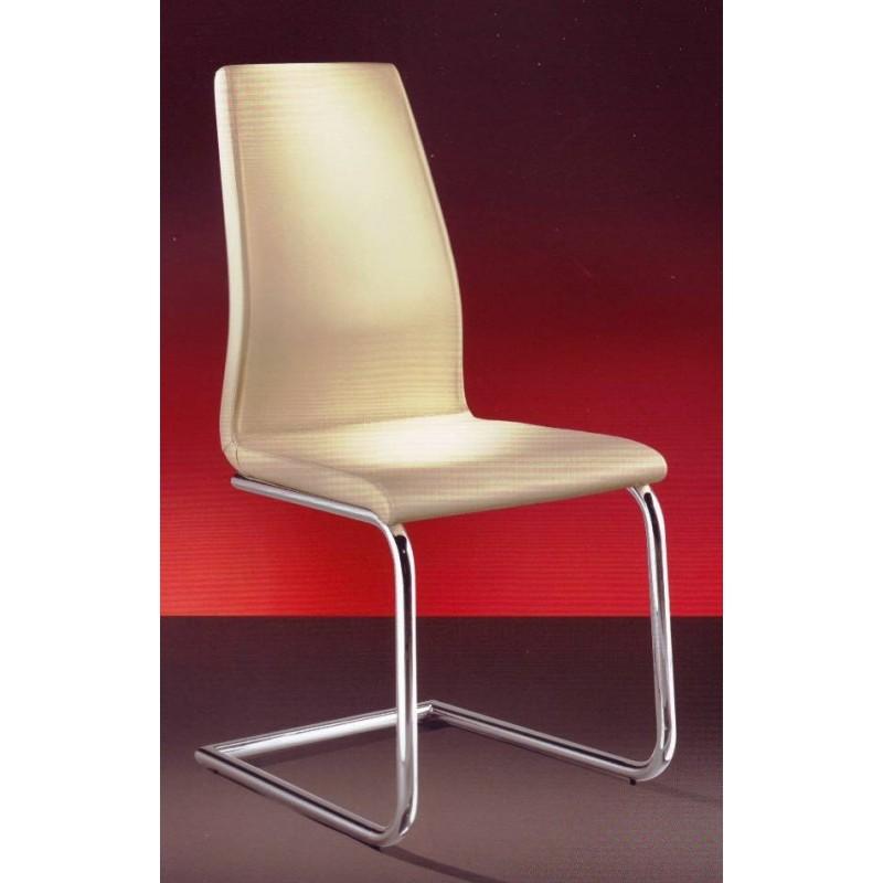 chaise design en cuir beige domilla et chaise design cuir domitalia bureau salle manger. Black Bedroom Furniture Sets. Home Design Ideas