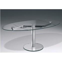 Table design en verre transparent EXTAND.