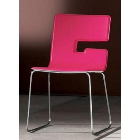 Chaise design en cuir PARIS fabriqué en Italie