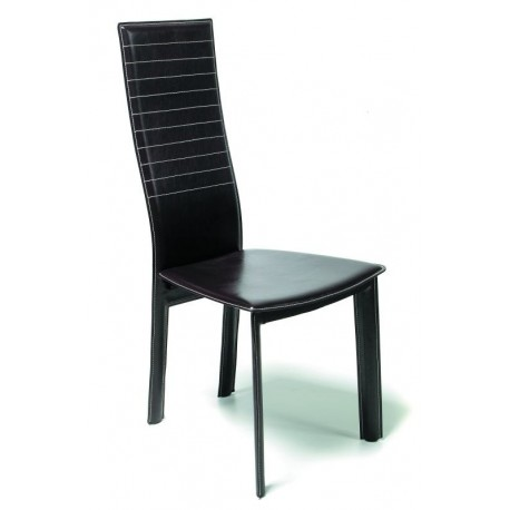 Chaise Moderne Noir NEPTUNE Vinyl
