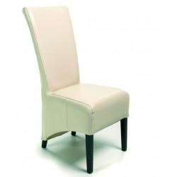 Chaise cuir baycast BERLIN beige