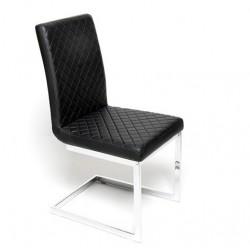 Chaise design AUDREY vinyl noir