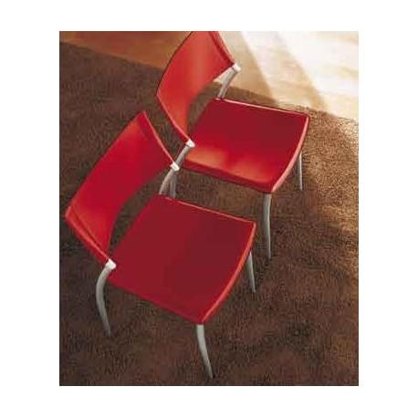 Chaise cuir design avenue et chaises en cuir par midj for Chaise longue design cuir
