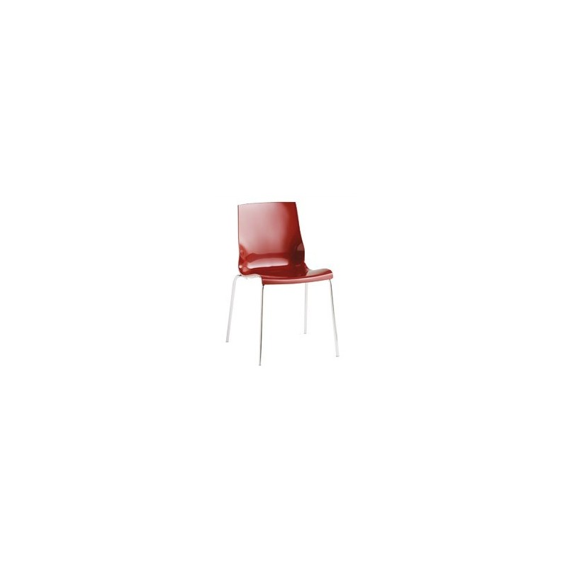 chaise design rouge isi 4 et chaise design polypropyl232ne