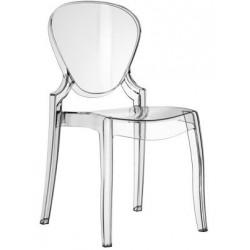Chaise design transparente QUEEN par Pedrali.