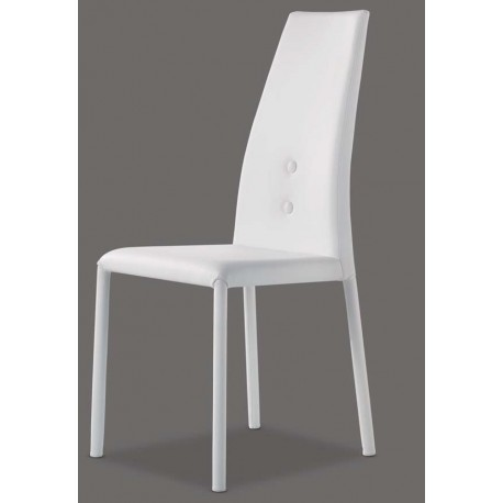 chaise en cuir blanc ELLE.
