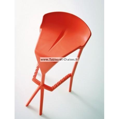 Tabouret bar rouge SHIVER en plastique