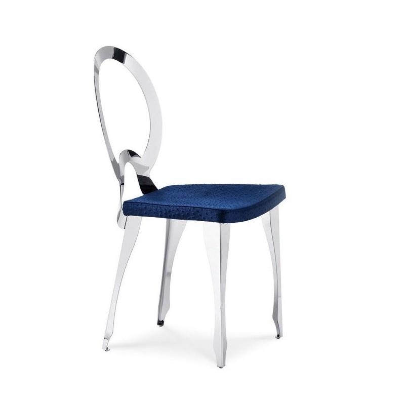 Chaise cuir design pour salle a manger luigi xvi par midj for Chaise en cuir design