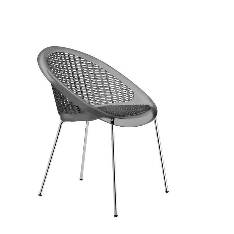 chaise design saint tropez par scab pour la salle manger. Black Bedroom Furniture Sets. Home Design Ideas