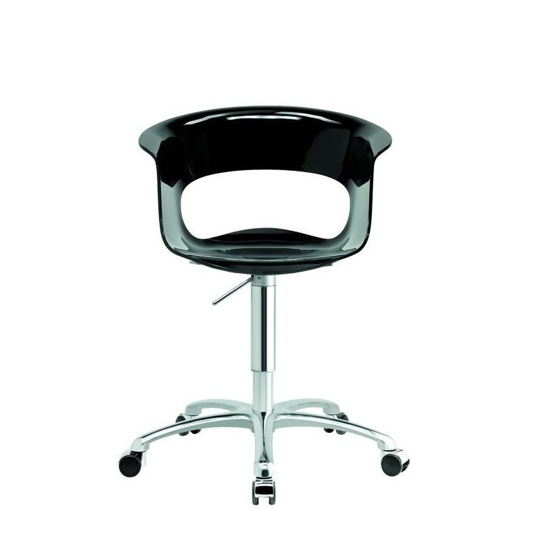 Chaise de bureau design a roulette miss b par scab - Chaise roulante bureau ...