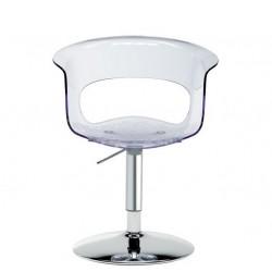Chaise design avec pied central MISS B.