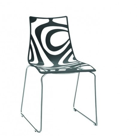 Chaise design pieds luges WAVE