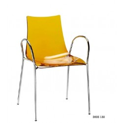 Chaise design avec accoudoirs ZEBRA