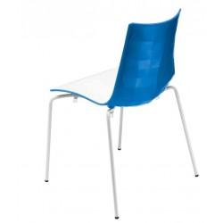 Chaise design d'exterieur bicolore ZEBRA