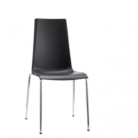 Chaise design 4 pieds MANNEQUIN noire