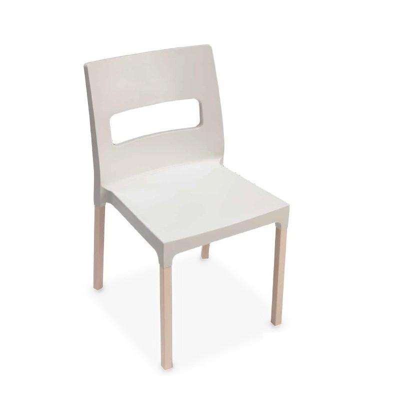 chaise design plastique et bois maxi diva par scab. Black Bedroom Furniture Sets. Home Design Ideas