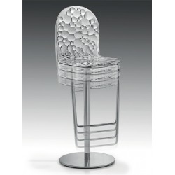 Tabouret reglable BUBBLES Transparent