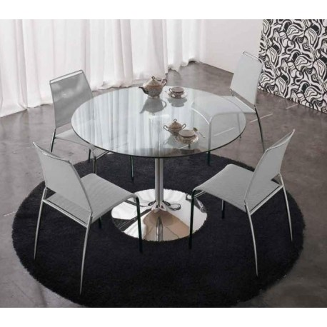 Table contemporaine en verre ARMONY