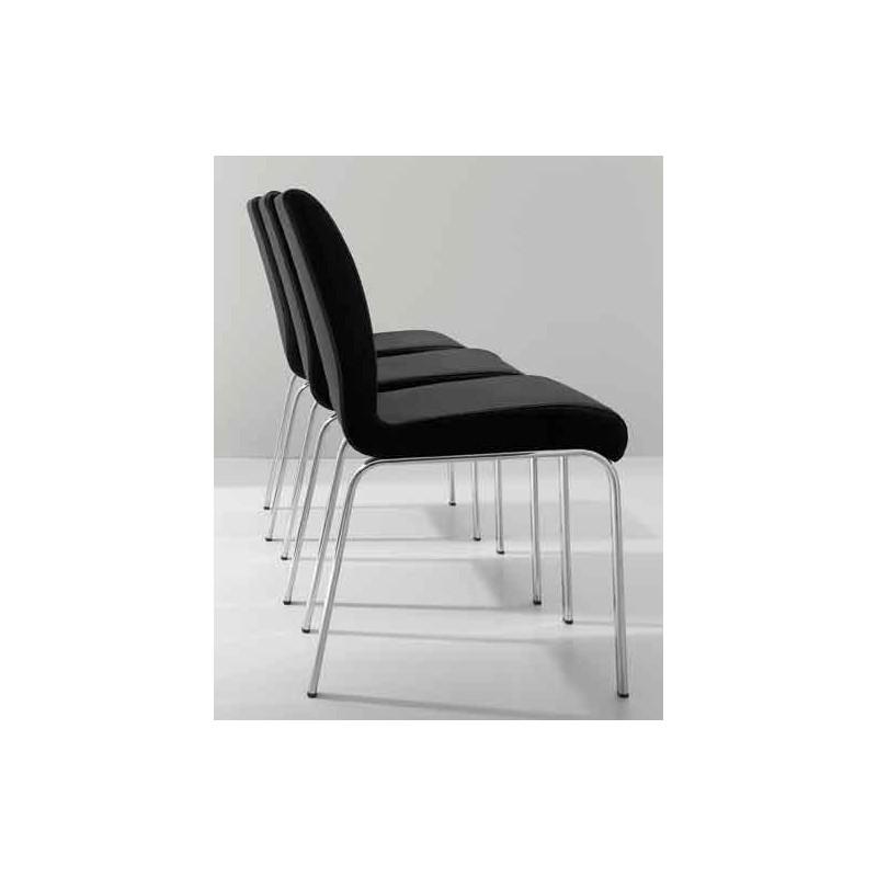 Chaise contemporaine cuir stone et chaises aubagne design for Chaise salon contemporaine