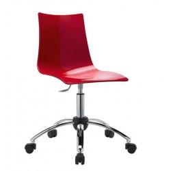 Chaise design roulante ZEBRA