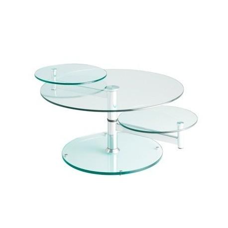 Table basse transparente en verre MANHATTAN