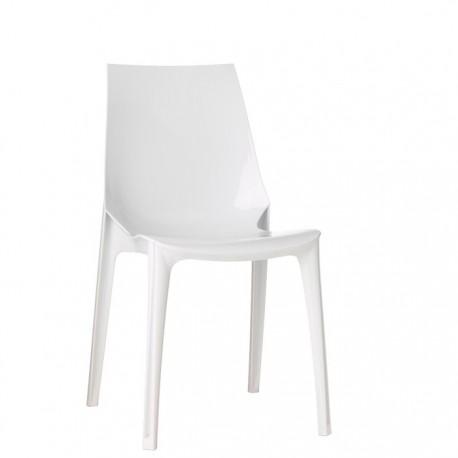 Chaise design VANITY Blanche par Scab.