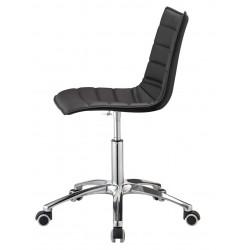 Chaise design Vinyle noir ZEBRA POP.