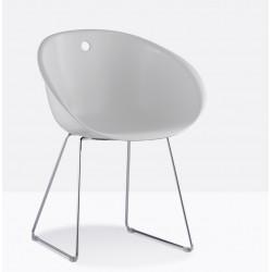 Chaise GLISS en plastique blanc par PEDRALI