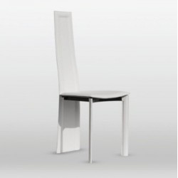 Chaise design cuir CALIPSO