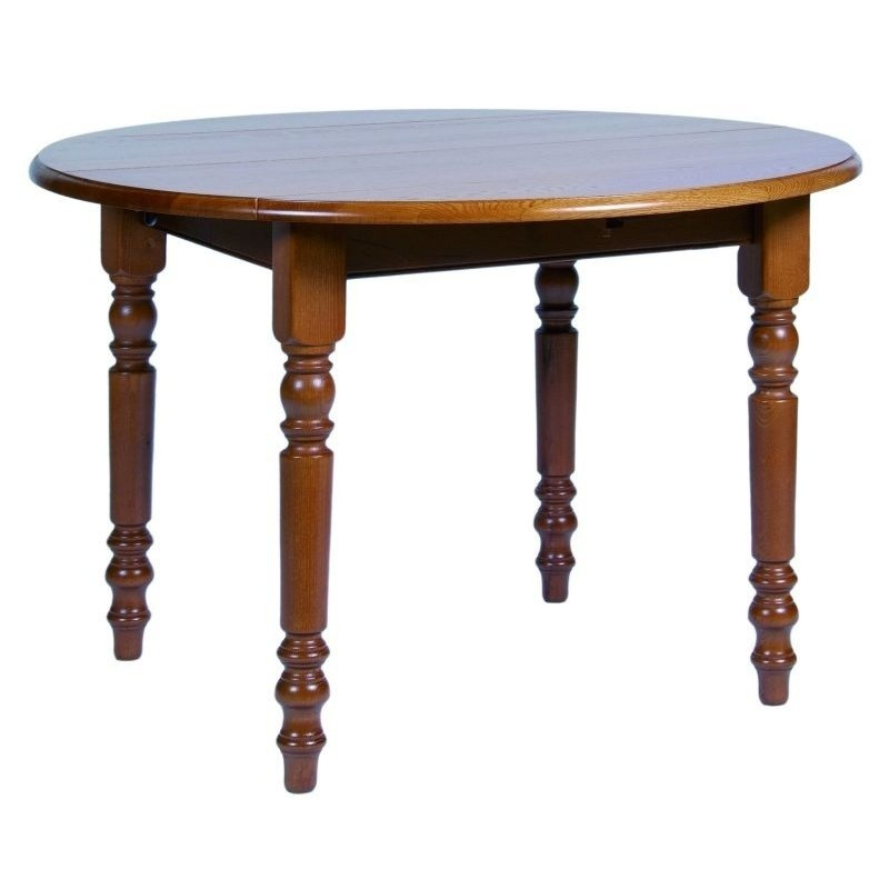 Table ronde a volet et table en bois avec allonge de style - Table ronde avec allonges ...
