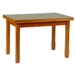 Table rectangulaire en bois BREST avec allonges