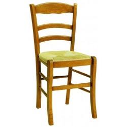 Chaise de cuisine en bois FENOUIL assise en paille