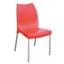 Chaise plastique design TULIP rouge empilable