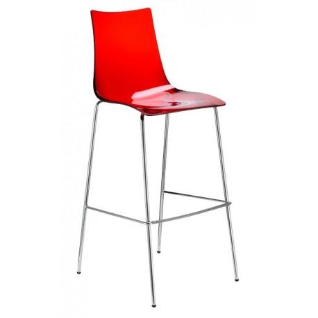 Tabouret design rouge 80cm ZEBRA.