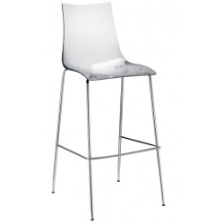 Tabouret design 80cm DEA transparent.