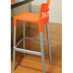 Tabouret design 65 cm DIVO orange.