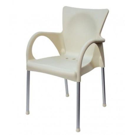 Chaise en résine empilable BEVERLY beige