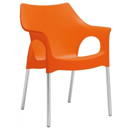 Chaise design OLA orange.