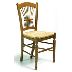 Chaise PROVENCALE en bois teinte chêne moyen