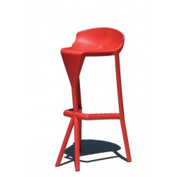 Tabouret bar rouge design SHIVER