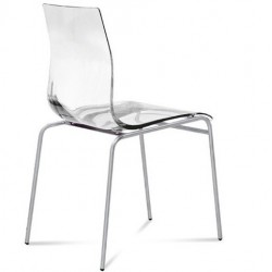 Chaise de cuisine design GEL transparente.