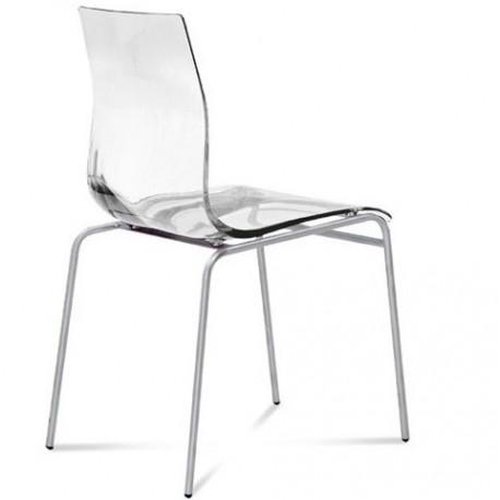 Chaise de cuisine design GEL transparente.