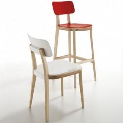 Chaise design PORTA VENEZIA rouge blanc.
