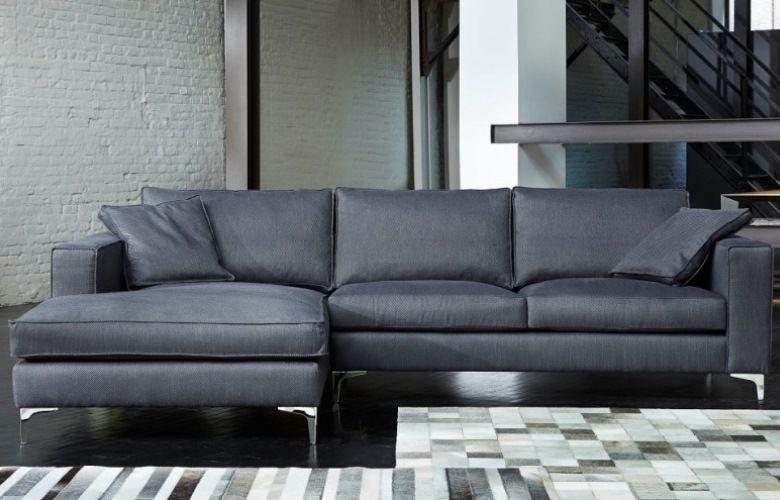 Canapé contemporain en tissu